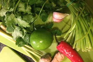 Thai vegetables and herbs