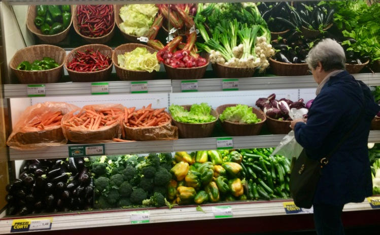 The vegetables in one of Milan's Esselunga supermarket