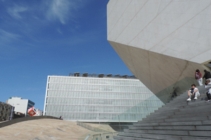 On the steps of Casa Musica