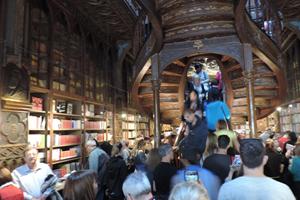 Inside Livraria Lello