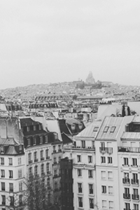 Over the rooftops of Paris looking towards Sacrew Coeur