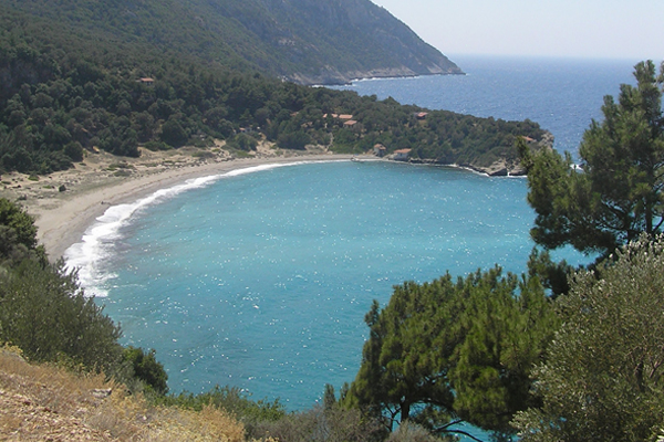 Megalo Seitani beach on the island of Samos