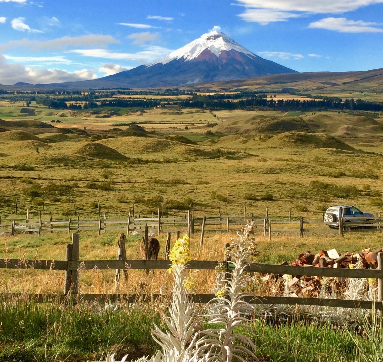 A view of Cotopaxi volcano in the Ecuadorian Andes
