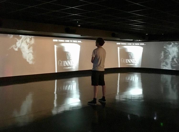 Inside the Guinness Storehouse cinema