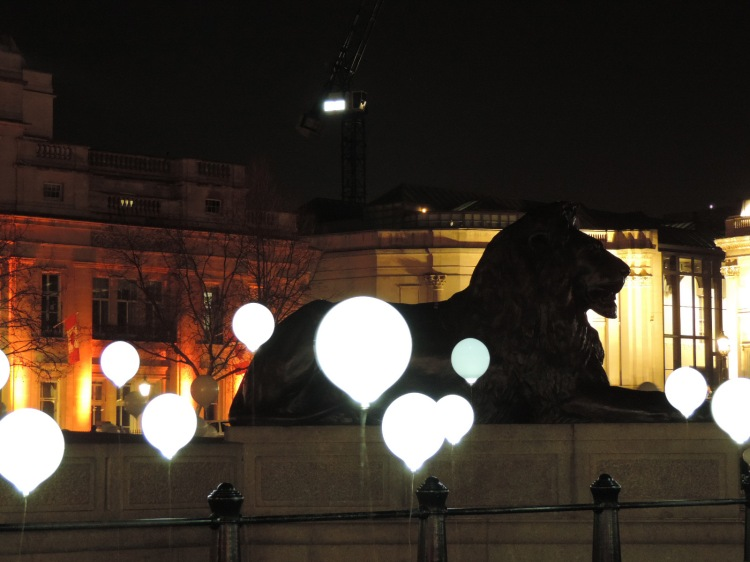 Child Hood (lion close) by Collectif Coin in Trafalgar Square