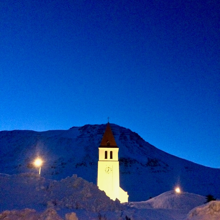 Tower in the town of Siglufjörður