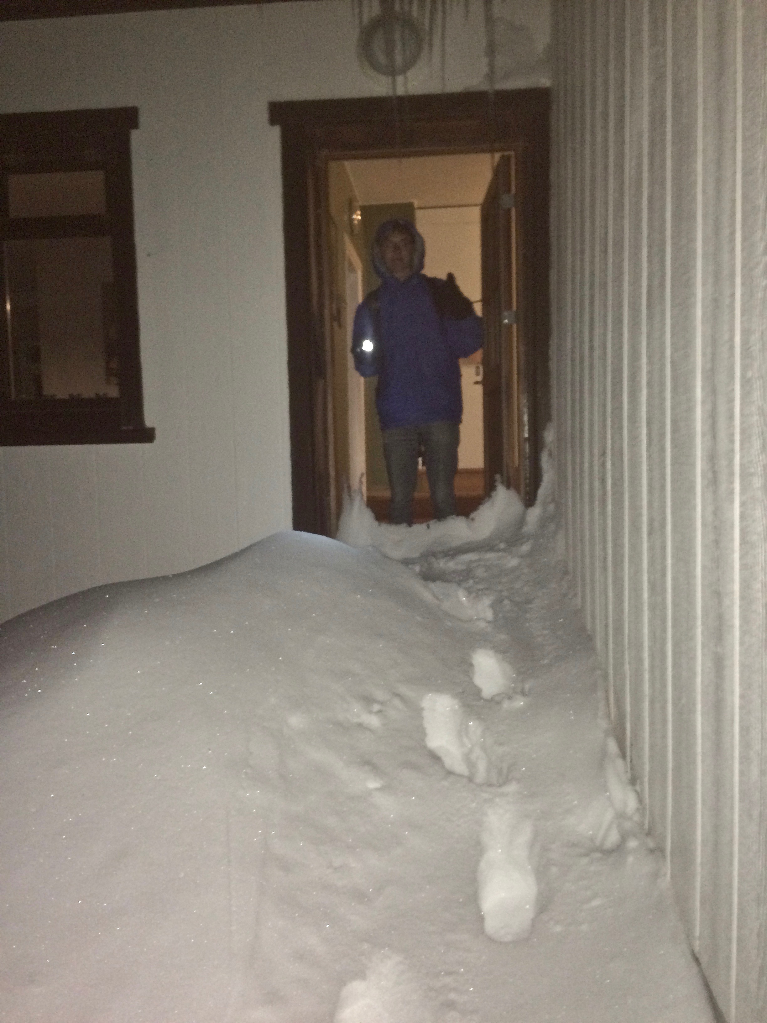 Our arrival through the snow drift to our farmhouse in northern Iceland