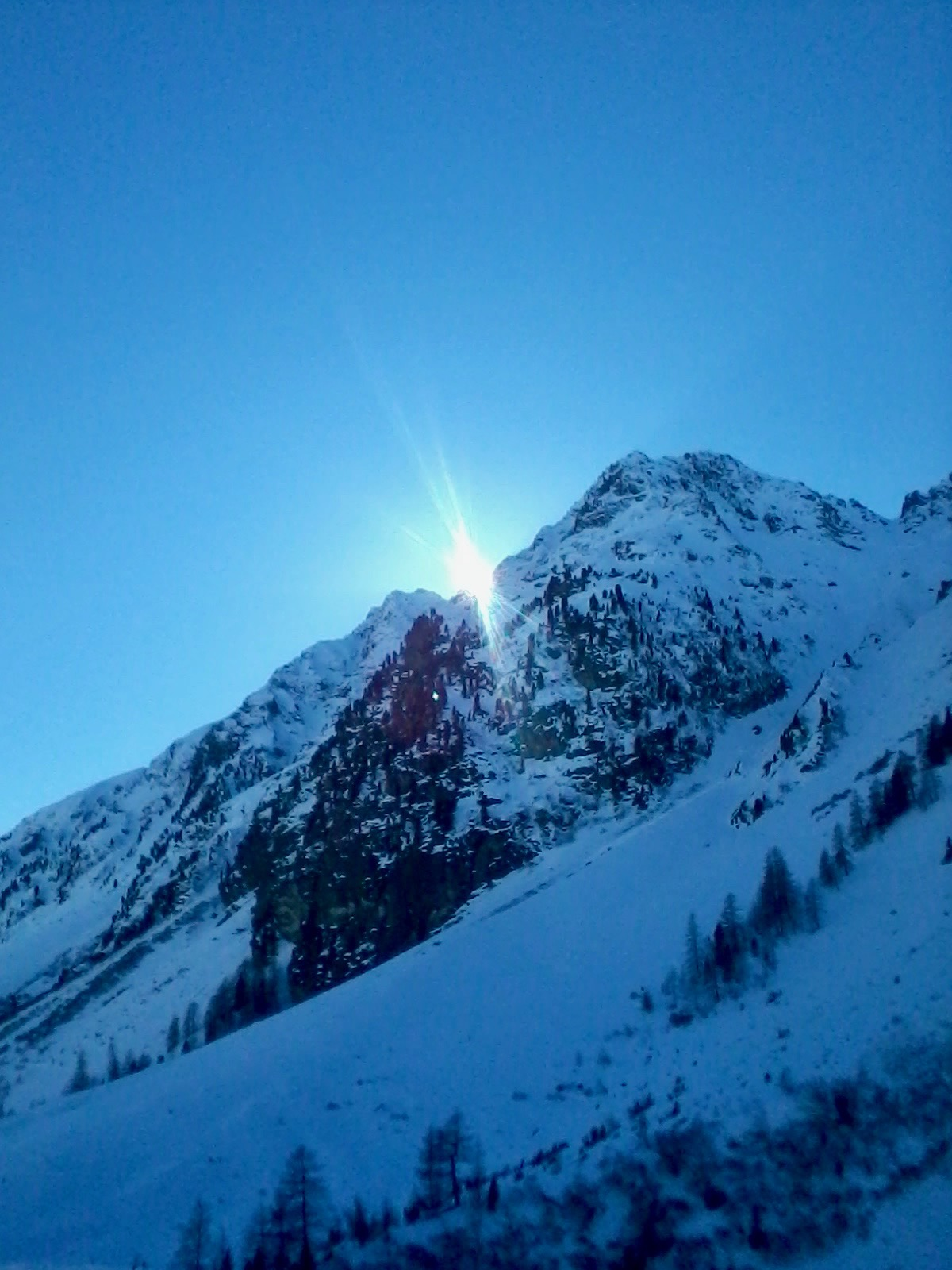 A mountain in Ischgl