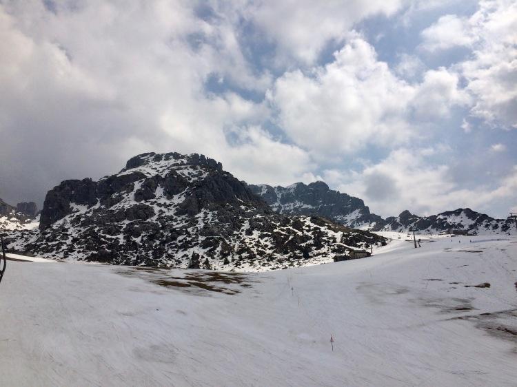 Piani di Bobbio at the end of the 2017 ski season