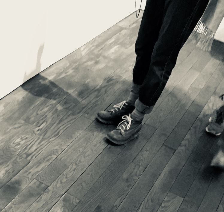 A pair of Kickers in the Photographer's Gallery in London