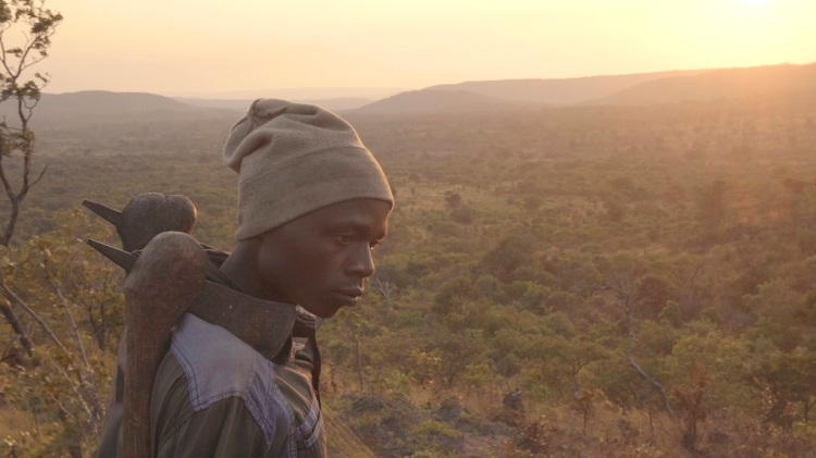 Kabwita Kasongo in the hills around his village in the south of the Democratic Republic of the Congo
