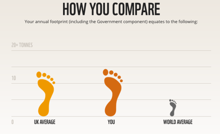 WWF environmental footprint questionnaire results - feet