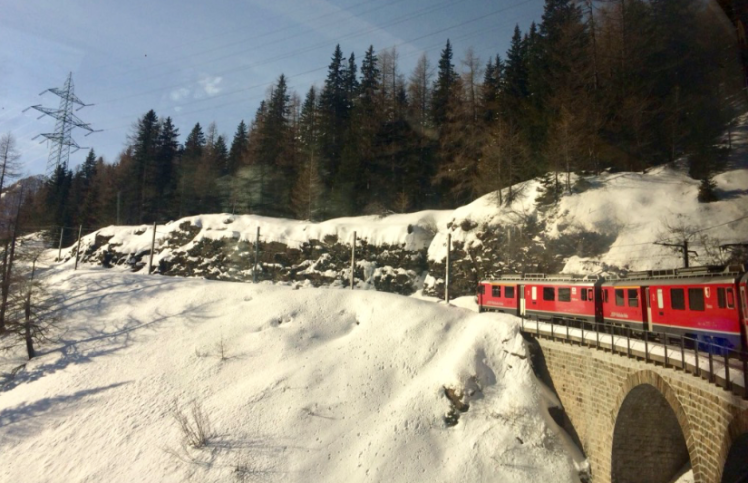 The Glacier Express in Switzerland