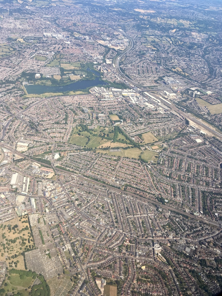View over south west London
