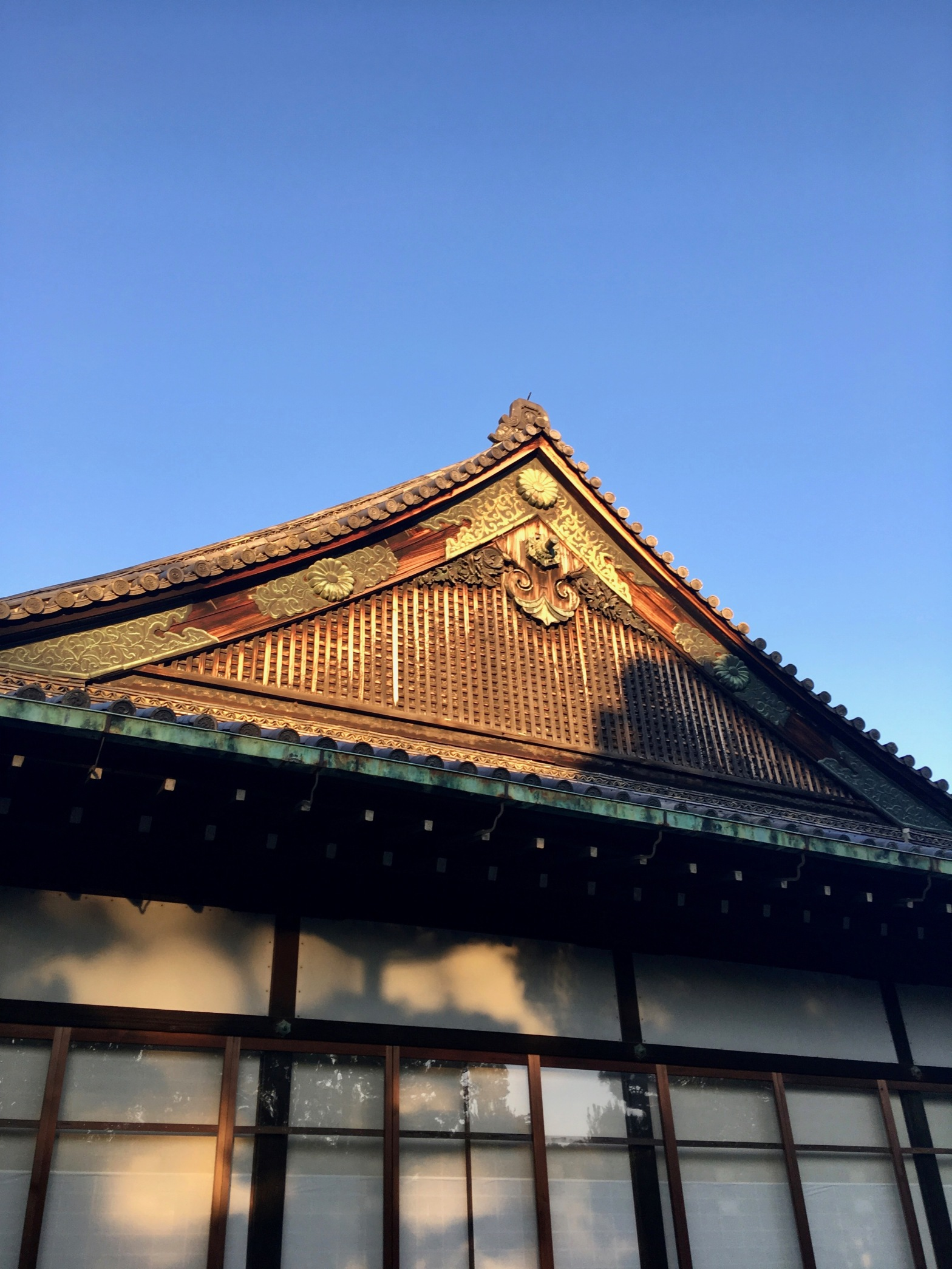 The roof of Ninomaru-goten Palace