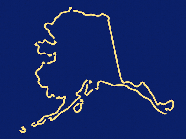 Outline of the country of Alaska