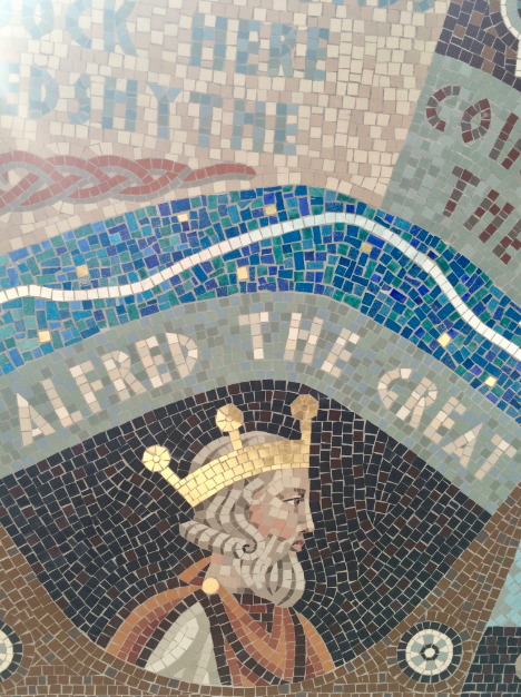 Mosaic at the King Alfred Dock