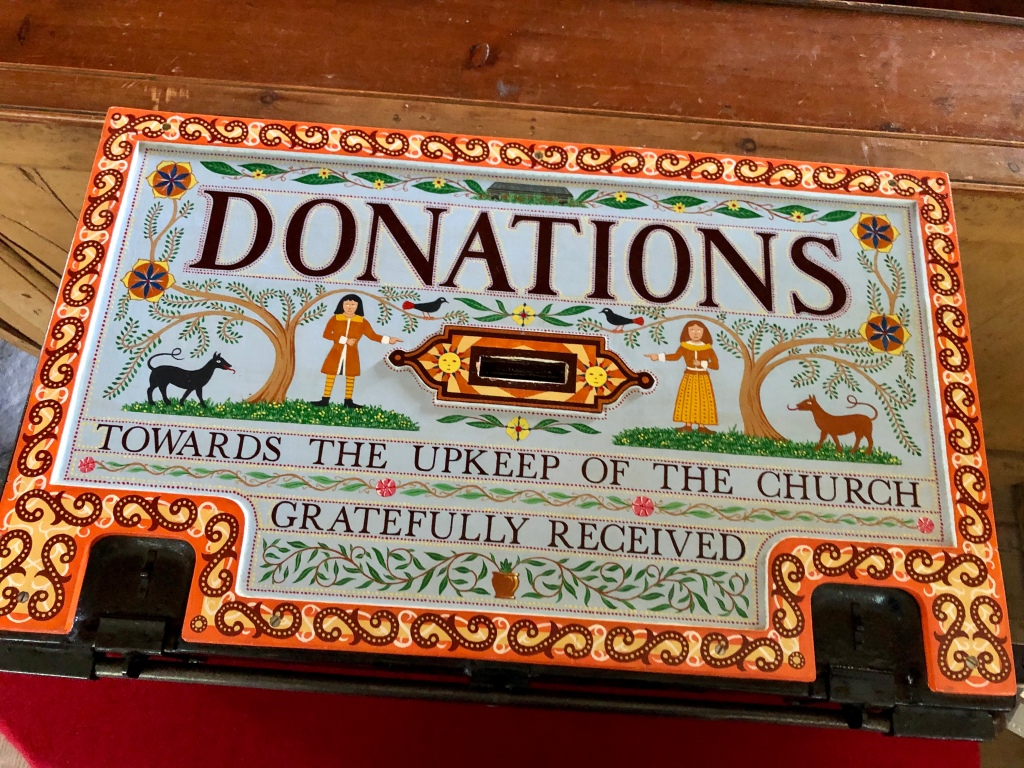 A beautiful donations box at East Church