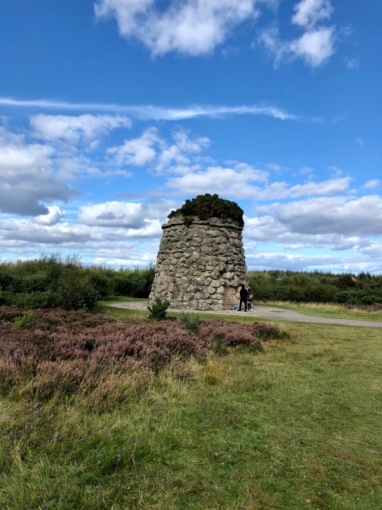 A memorial cairn to clans lost at the battle of Culloden