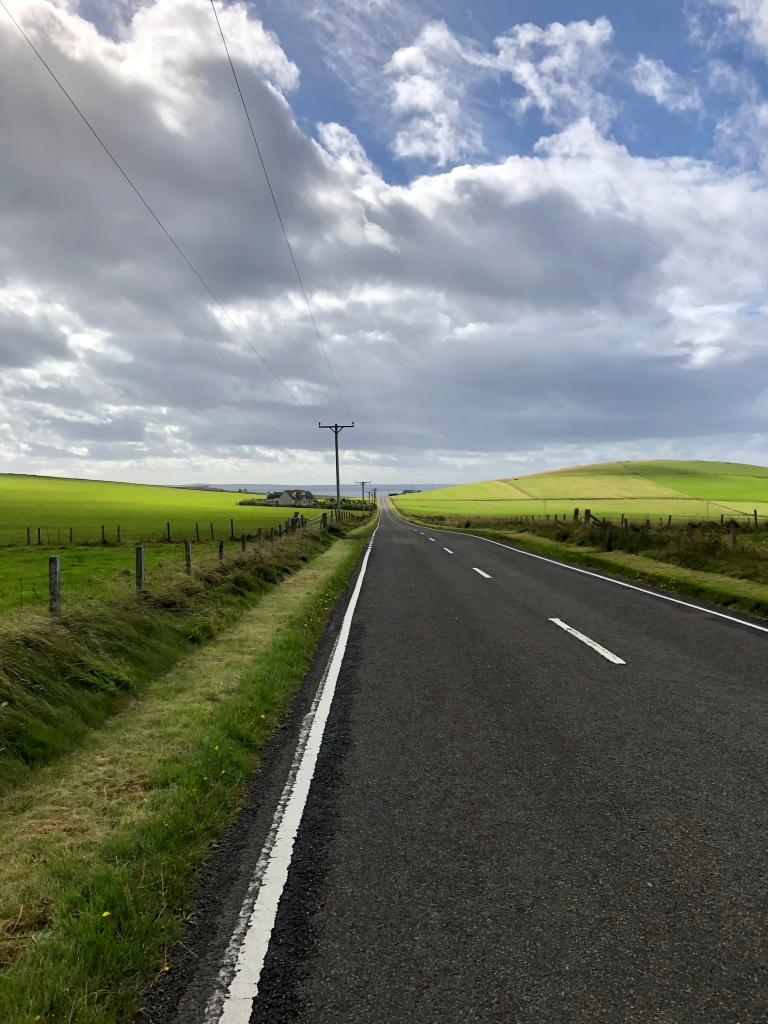 The road to Burwick on South Ronaldsay in Orkney