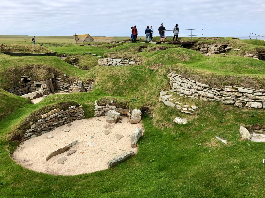 Some of the Neolithic houses at Skara Brae