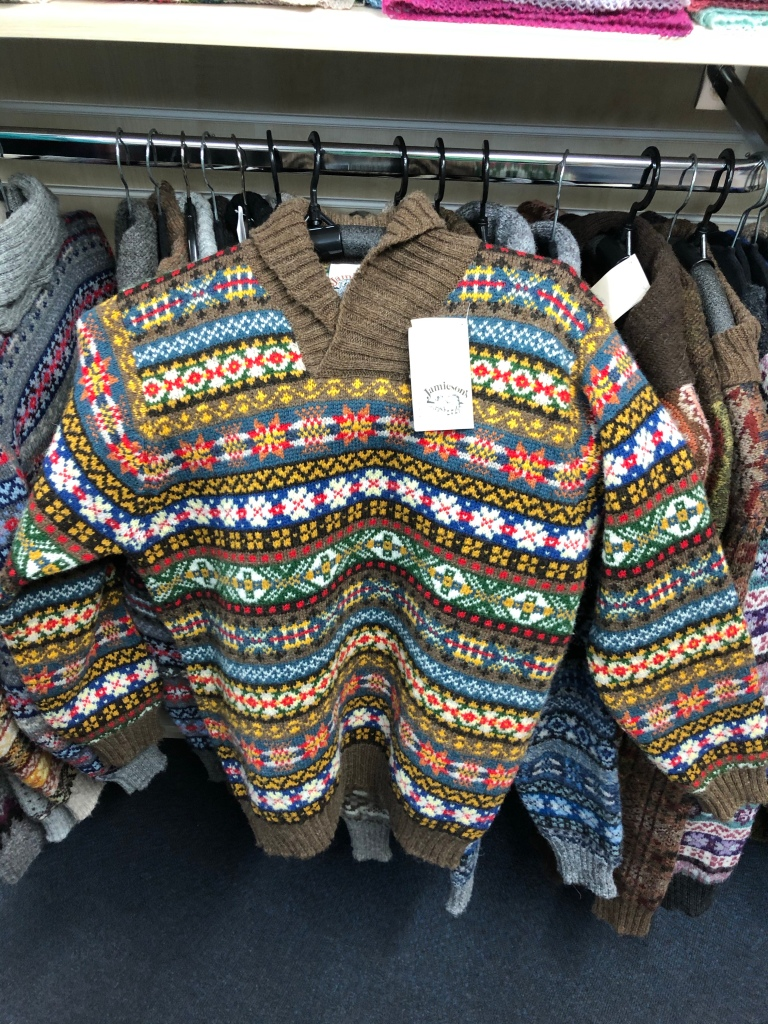 A Fair Isle patterned hooded jumper