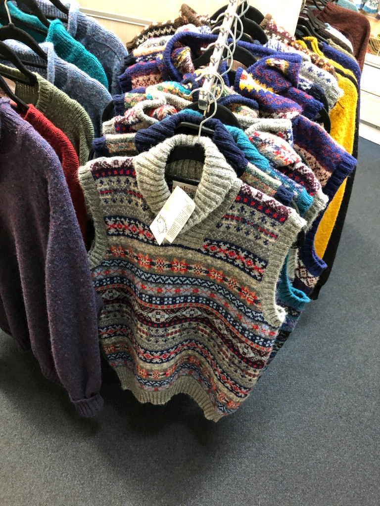 A Fair Isle patterned vest jumper