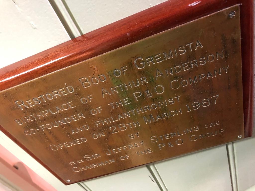 Plaque at the Shetland Textile Museum