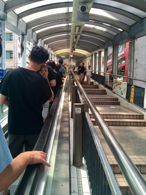 The 800m long Central Mid Escalator
