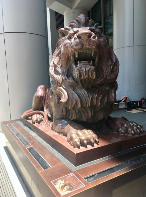 Stephen the Lion at HSBC Headquarters
