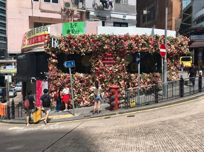 Next door to the Sheung Wan Market