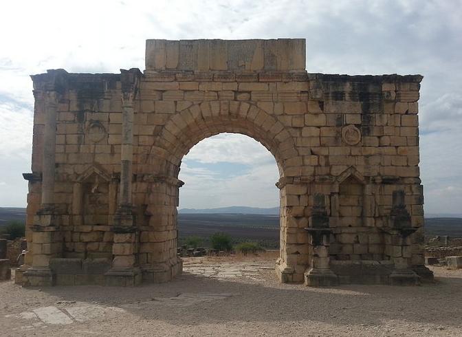 Triumphal arch in Volubilis, Morocco