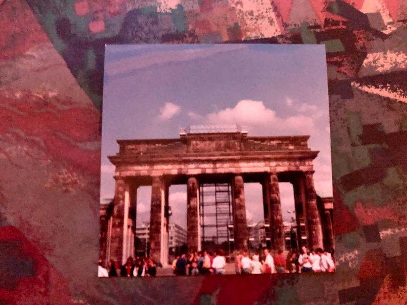 Brandenburg Gate, still undergoing refurbishments when we visited in 1991