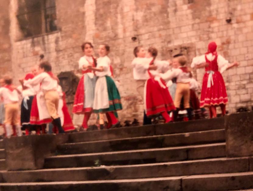 Children dancing in Prague