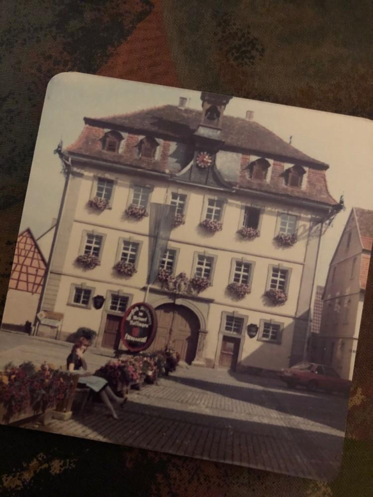 My mum in Germany in 1981