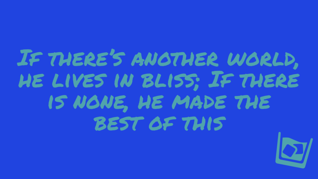 A quote from one of Burns's letters