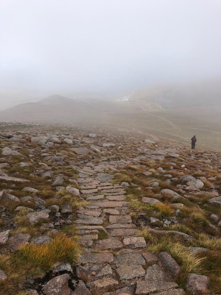 Descending Cairn Gorm mountain
