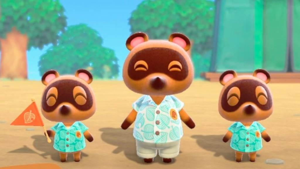 Tom Nook and his co-workers Timmy and Tommy, of Animal Crossing