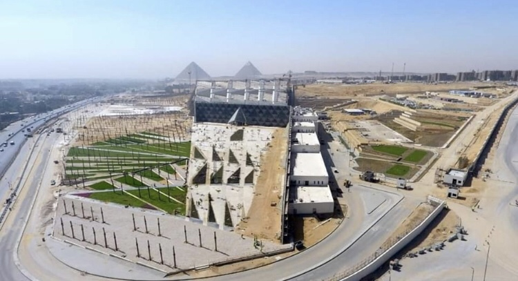 The GEM Museum with Giza Pyramids in thebackground