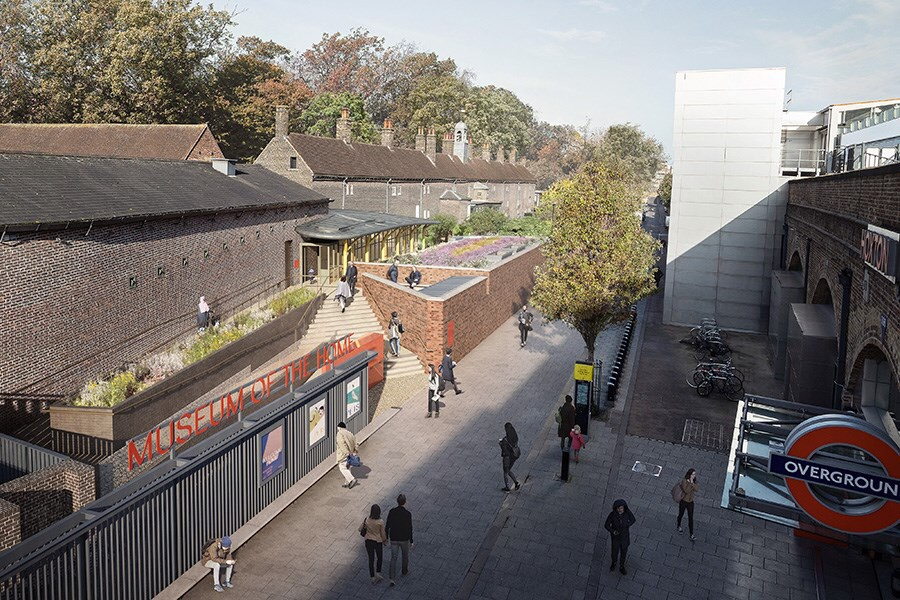 How the entrance to the new Museum of the Home will look