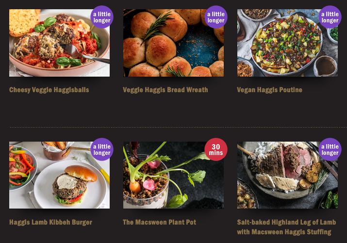 Macsween website featuring recipes