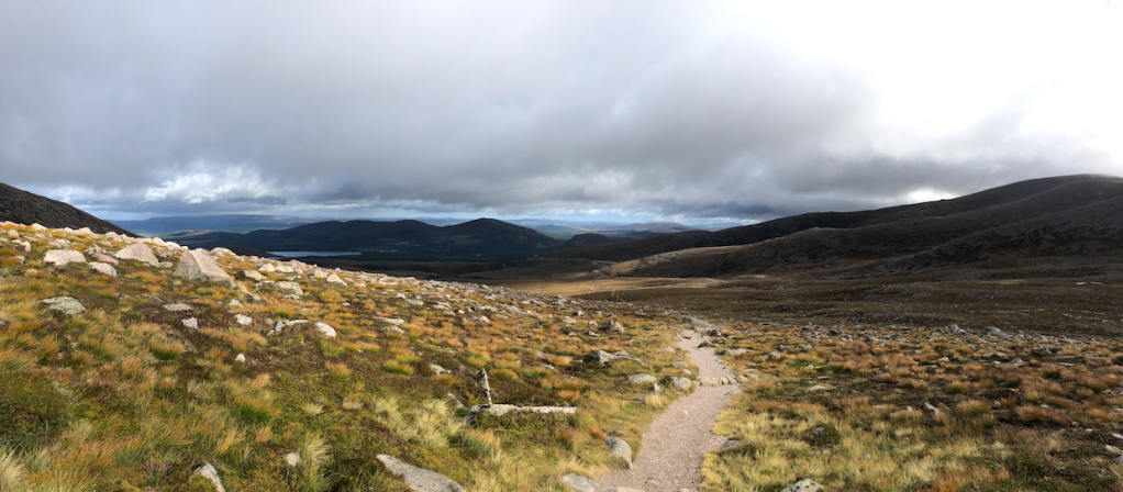 Panorama up on the Cairngorm Plateau