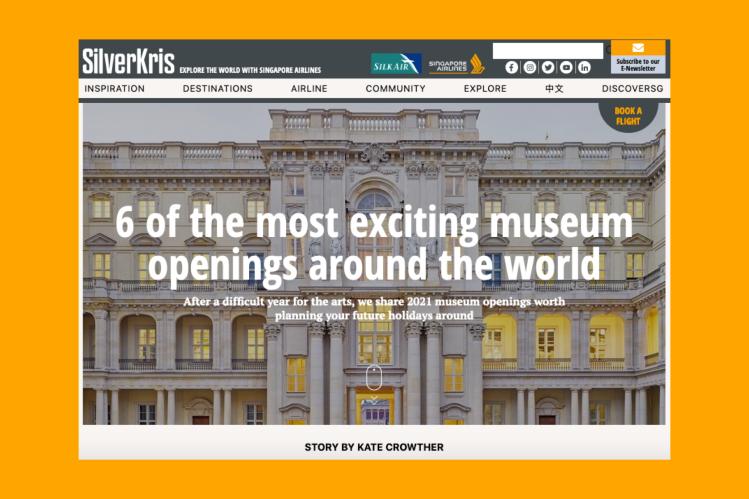 silverkris.com screengrab showing my museums piece