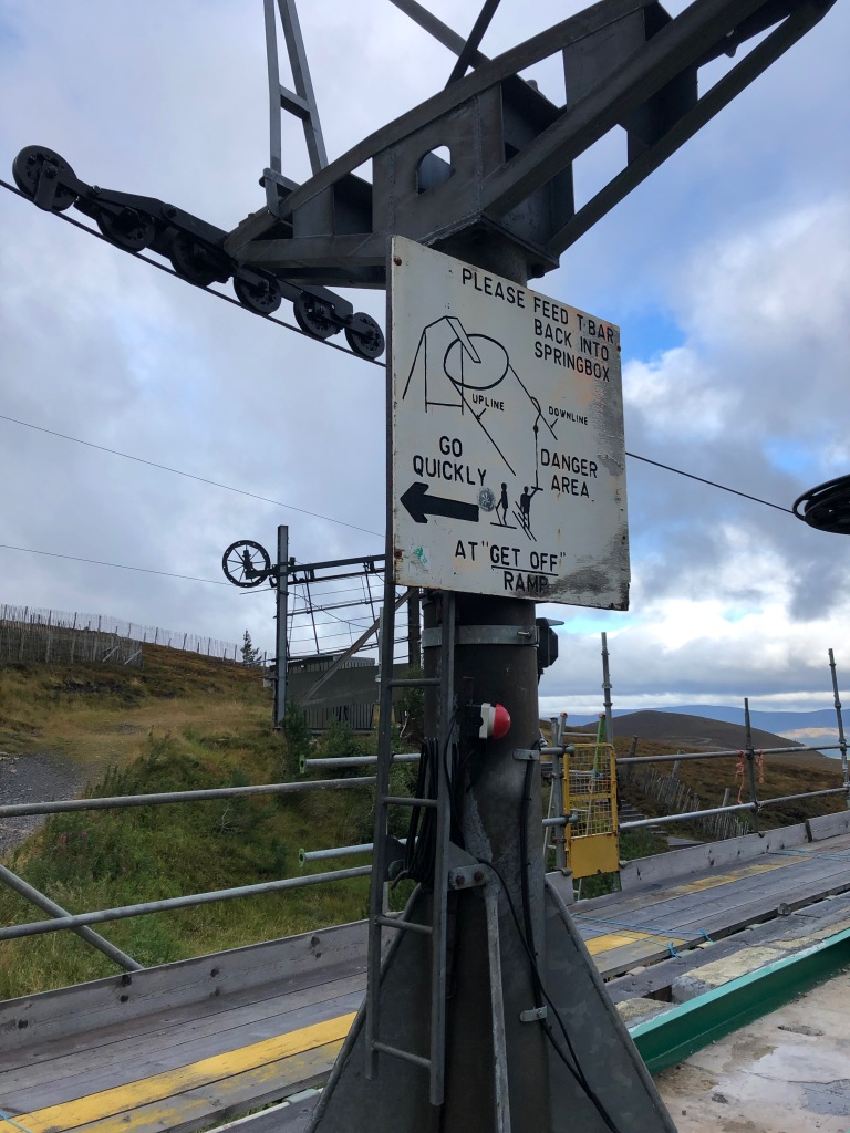 Ski lift on Cairn Gorm Mountain