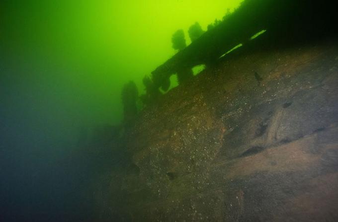 A shipwreck in the Baltic Sea