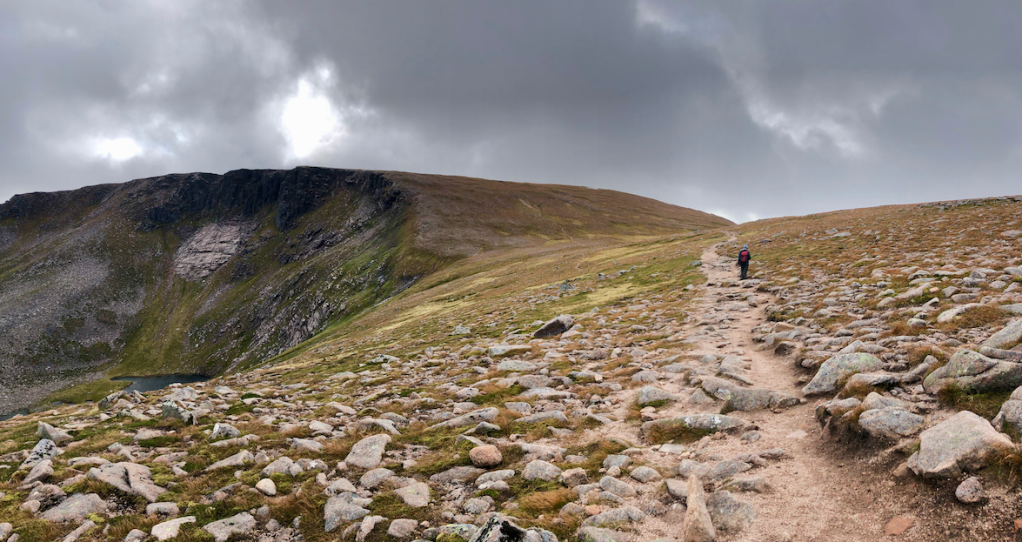 Walking above the coire, or corrie