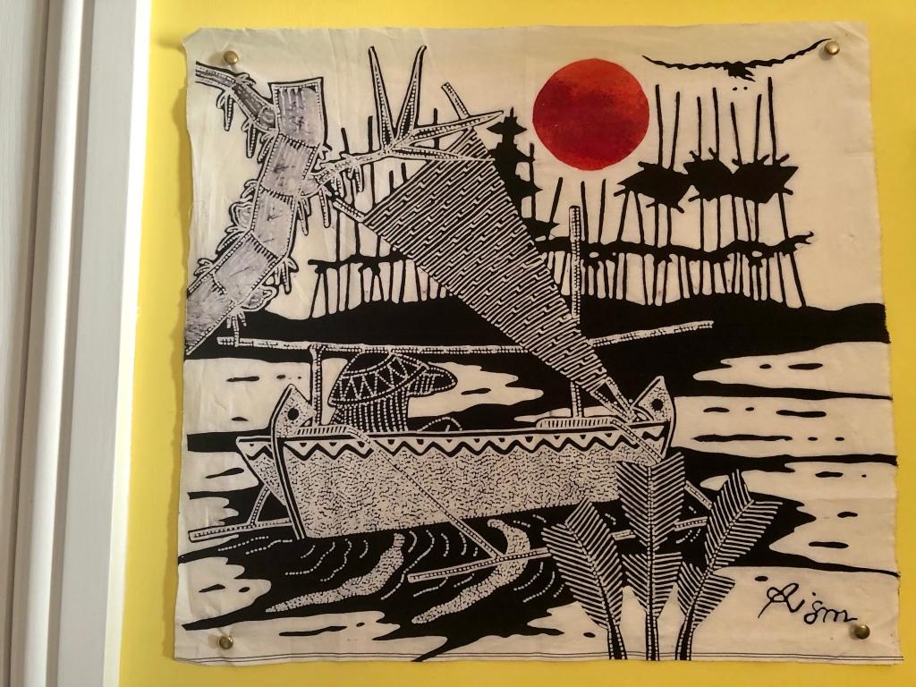 An Indonesian batik print made on the island of Java
