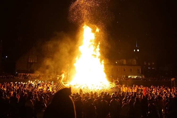 Burning the galley during Up Helly Aa