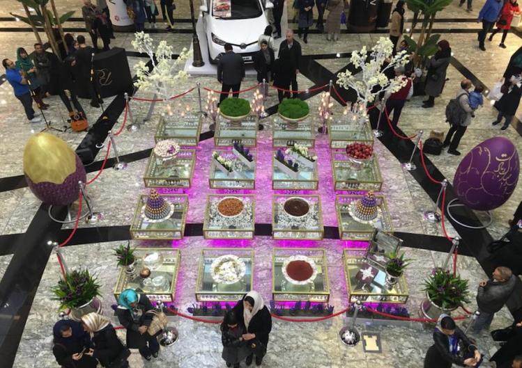 A Tehran mall at Nowruz