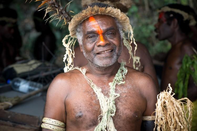 A chief from Tanna Island in Vanuatu